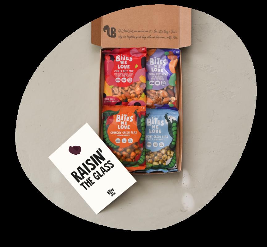 Snackbox voor de online borrel