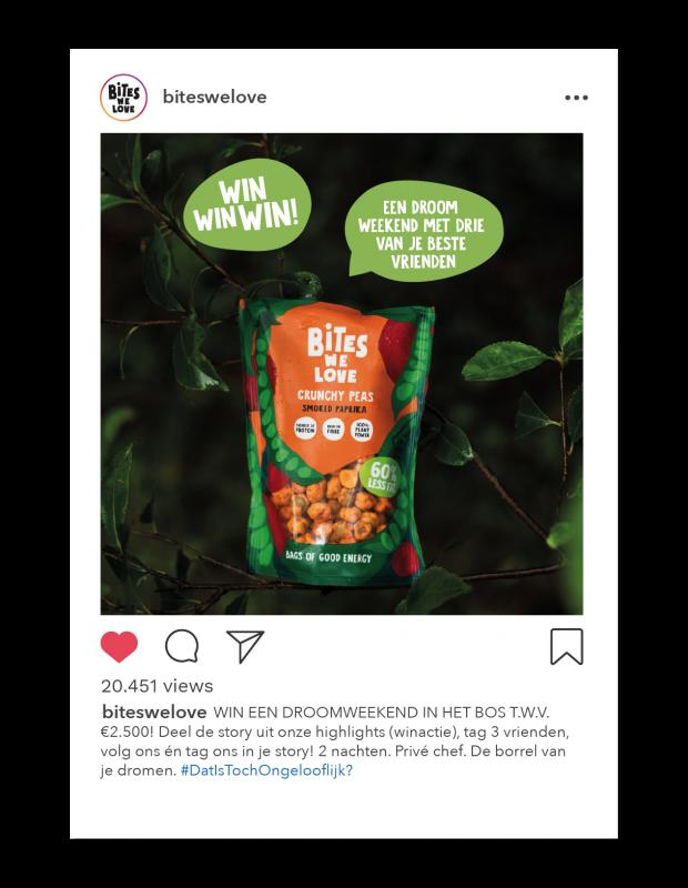 instagram post winactie